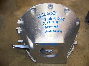 1967 68 Mopar 273 9 5 Bellhousing 2806081 Plymouth Barracuda Dodge Dart