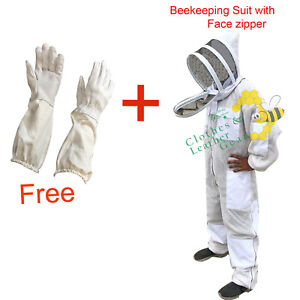 Ultra Ventilated Beekeeping Suit 3 Layer Mesh Fencing Veil gloves Free