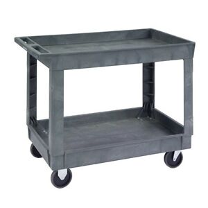 Medium Duty Deep Well Plastic Utility Cart 1 Ea
