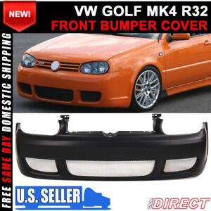 For 99 05 Volkswagen Golf Mk4 R32 Style Front Bumper Cover Unpainted Steel Mesh