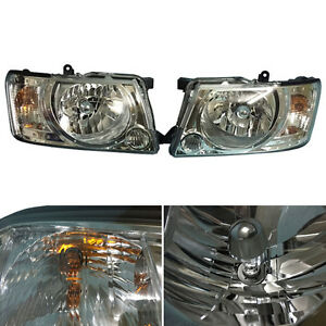 For Nissan Patrol Y61 4800 13 Right Left Headlights Lamps Assembly Black Cover