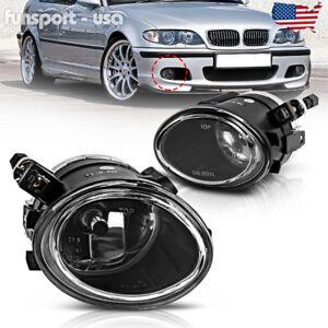For 01 05 Bmw E46 3 Series M3 00 03 M5 Clear Front Bumper Fog Light Lamps Pair