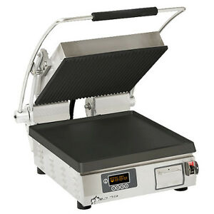 Star Pst14iegt Pro max 2 0 Sandwich Grill With Grooved Top And Smooth Bottom
