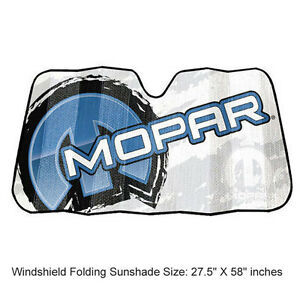 New Blue Mopar Official Car Truck Front Windshield Accordion Folding Sun Shade