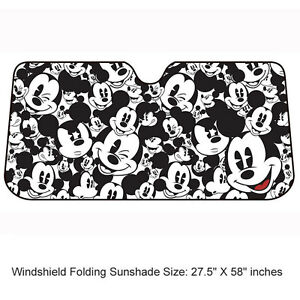 New Disney Mickey Mouse Car Truck Front Windshield Accordion Folding Sun Shade