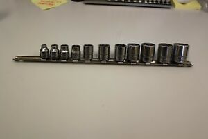 10 Piece Snap on Tools 3 8 Dr 6 Pt Socket Set Fs 1 4 7 8 Sae 1 S k Socket