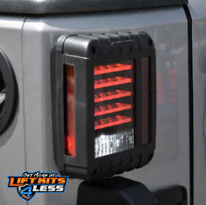 Dv8 Offroad Tljk 01 Horizontal Led Tail Light For 2007 18 Wrangler jk 2 4 door