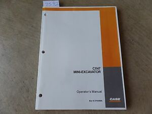 Case Mini excavator Cx47 Operator s Manual 6 3793na