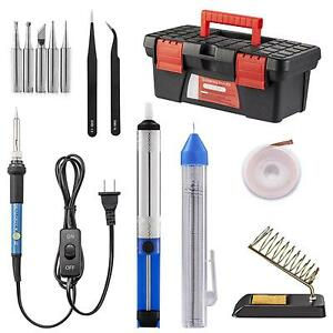 Soldering Iron Kit Including 60w Temperature Control With On off Switch
