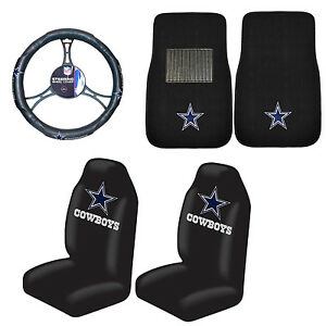 Football Dallas Cowboys Floor Mat Set W Seat Covers Steering Wheel Cover