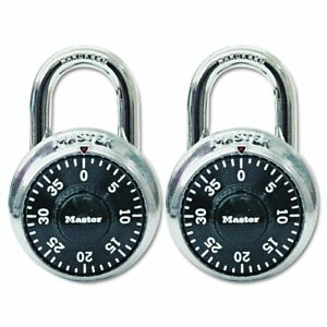 Master Lock Combination Twin Padlock Pack Of 3