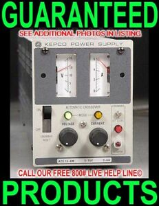 Kepco Ate 15 6m 0 15v 0 6a Variable Regulated Metered Lab Bench Dc Power Supply