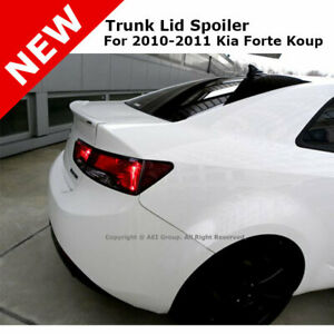 For Kia Forte Koup 10 13 Trunk Rear Spoiler Painted Clear White Ud