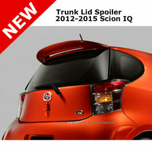 Roof Rear Trunk Spoiler Lip 2012 Scion Iq Painted Black Sand Pearl 209