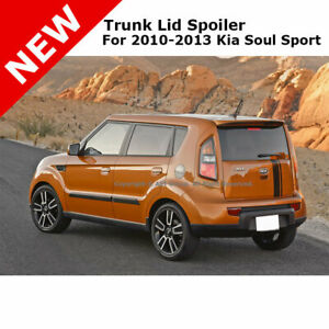 For Kia Soul Sport 4dr 10 13 Trunk Spoiler Rear Painted Bright Silver 3d