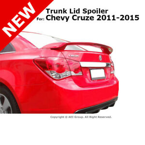 For Chevy Cruze 2011 2015 Trunk Rear Spoiler Painted Black Graphite Met Wa501q