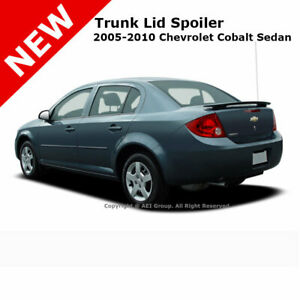 Chevy Cobalt 4dr 05 10 Trunk Rear Spoiler Color Matched Painted Black Wa8555