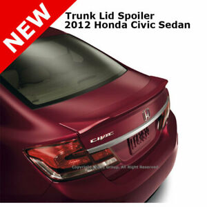 For Civic 4d 4 Dr 2012 Trunk Rear Spoiler Painted Crystal Black Pearl Nh731p