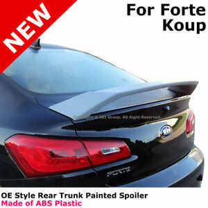 For 14 18 Kia Forte Koup 2dr Color Matched Painted Rear Trunk Spoiler Aurora Abp
