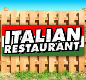 Italian Restaurant Advertising Vinyl Banner Flag Sign Usa Carnival Food Fair