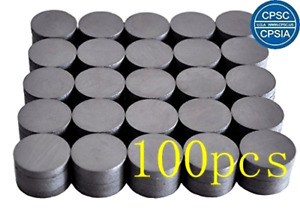 100 Round Ceramic Industrial Ferrite Magnets For Diy Project School Crafts Black