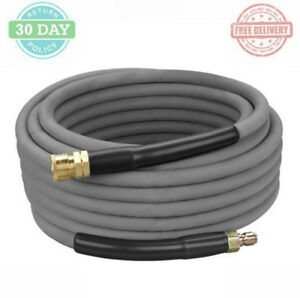Pressure Washer Hose Steel Braided Rubber Wrapped Quick connect Brass Fittings