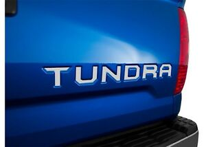 Mirror Chrome Tailgate Letter Inserts For 2014 2019 Toyota Tundra New Free Ship