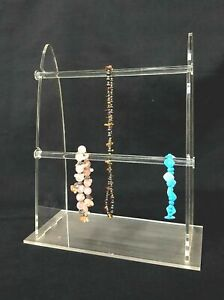 2 Tier Sunglass Jewelry Displays Stand Acrylic Clear T bar Bracelet Necklace
