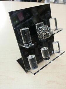 Acrylic Ring Display Stand 6 Ring Display Organizer Stand In Acrylic