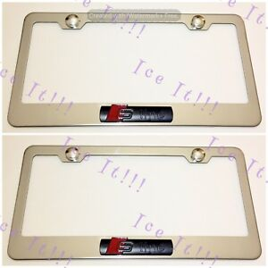 2x 3d S Line Audi Emblem Stainless Steel License Plate Frame Rust Free