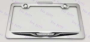 Chrysler Logo Stainless Steel License Plate Frame Rust Free W Bolt Caps