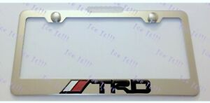 Toyota Trd 3d Emblem Stainless Steel License Plate Frame Rust Free W Bolt Caps