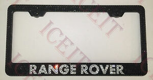 Range Rover Stainless Steel License Plate Frame Made With Swarovski Crystals