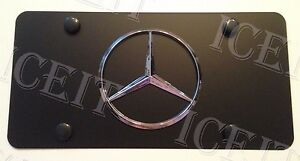 Mercedes Benz Front Black Stainless Steel Heavy Duty 1mm License Plate Frame