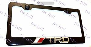 Tundra Trd 3d Emblem Black Stainless Steel License Plate Frame Rust Free W Cap
