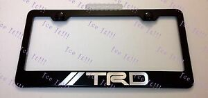 Toyota Trd Stainless Steel Black License Plate Frame Rust Free W Caps