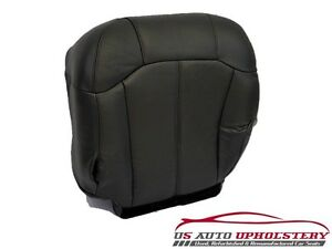 2001 2002 Chevy Silverado 3500 Driver Side Bottom Leather Seat Cover Dark Gray
