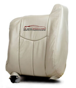 2003 2004 Chevy Tahoe Lt Z71 Ls driver Side Lean Back Leather Seat Cover Tan
