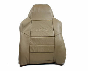 2005 Ford Excursion Driver Side Lean Back W Limited Logo Leather Seat Cover Tan