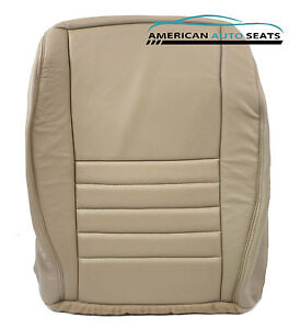 99 04 Mustang Gt driver Bottom Perforated Replacement Leather Seat Cover Tan