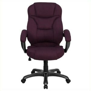 Flash Furniture High Back Microfiber Upholstered Office Chair In Grape