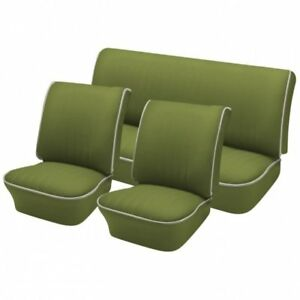 1956 57 Volkswagen Vw Bug Oem Classic Seat Upholstery Front Rear Pea Green
