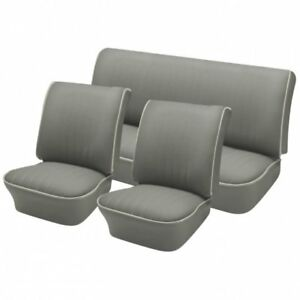 1956 57 Volkswagen Vw Bug Oem Classic Seat Upholstery Front Rear Grey