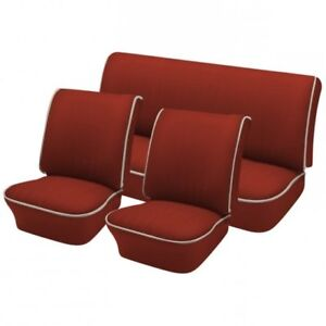 1965 67 Volkswagen Vw Bug Oem Classic Seat Upholstery Front rear Brick Red