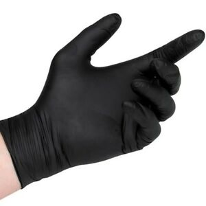 1000 Pcs Black Nitrile Disposable Gloves Heavy Duty 5 Mil Powder free Small