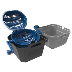 Wet Dry Media Separator With 2 Handles Built In Strainers Lid For Brass Tumbling