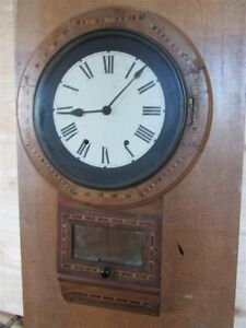 Hand Made Wooden Wall Clock With Inlaid Work And Brass Works 79