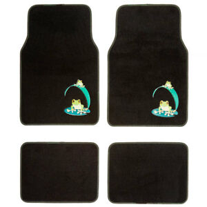 New 4pcs Green Frogs Carpet Floor Mats For Car Truck Suv Front Rear