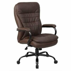 Bowery Hill Heavy Duty Office Chair In Bomber Brown