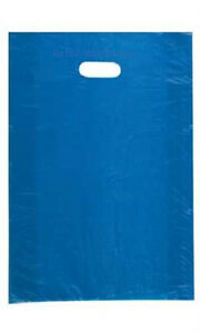 Plastic Shopping Bags 1000 Blue High Density Retail Merchandise 15 X 4 X 24